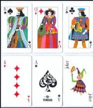 Collectible Japanese  Advertising  playing cards Yamaha, 1972